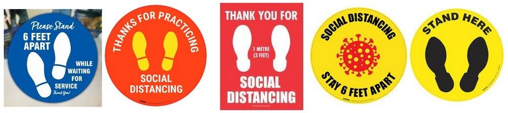 Stay 6 Feet Floor Signs | Social Distance