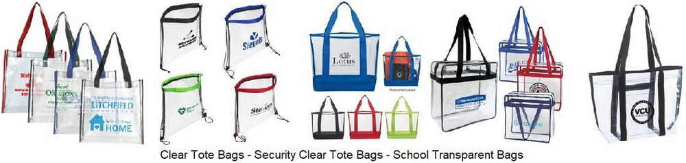 Clear Transparent Secure Tote Bags